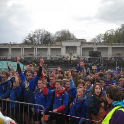 Start rassemblement Scouts à Namur